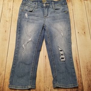 Girls distressed cropped Jean's size 12